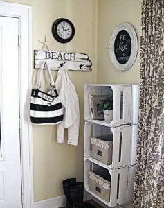 DIY Wandregale aus paletten als coole wohnidee flur