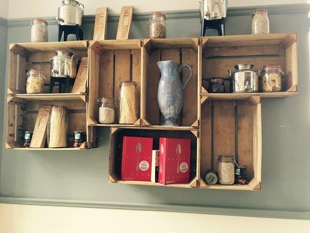 DIY Wandregale für die küche aus paletten - fresHouse