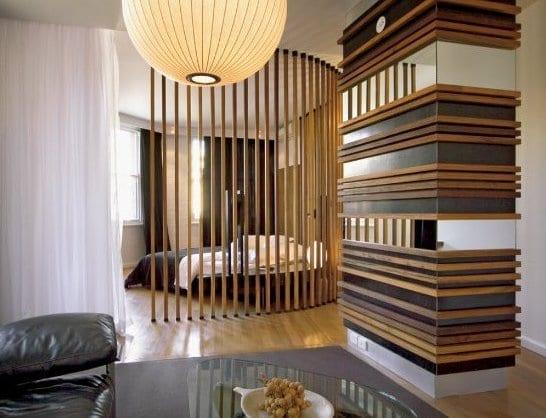 Holzlatten Raumteiler Inspiration F 252 R Runde Raumtrennung Kleiner Wohnungen Freshouse