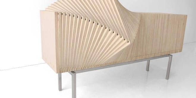 Wave-Sideboard aus Birkenholz von Sebastian-Errazuriz