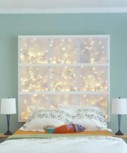 coole DIY deko ideen schlafzimmer mit DIY kopfteil als Wanddekoration