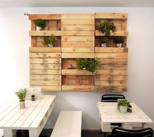 Regal selber bauen kreativ  coole Wanddeko selber bauen aus Paletten als kreative und moderne ...