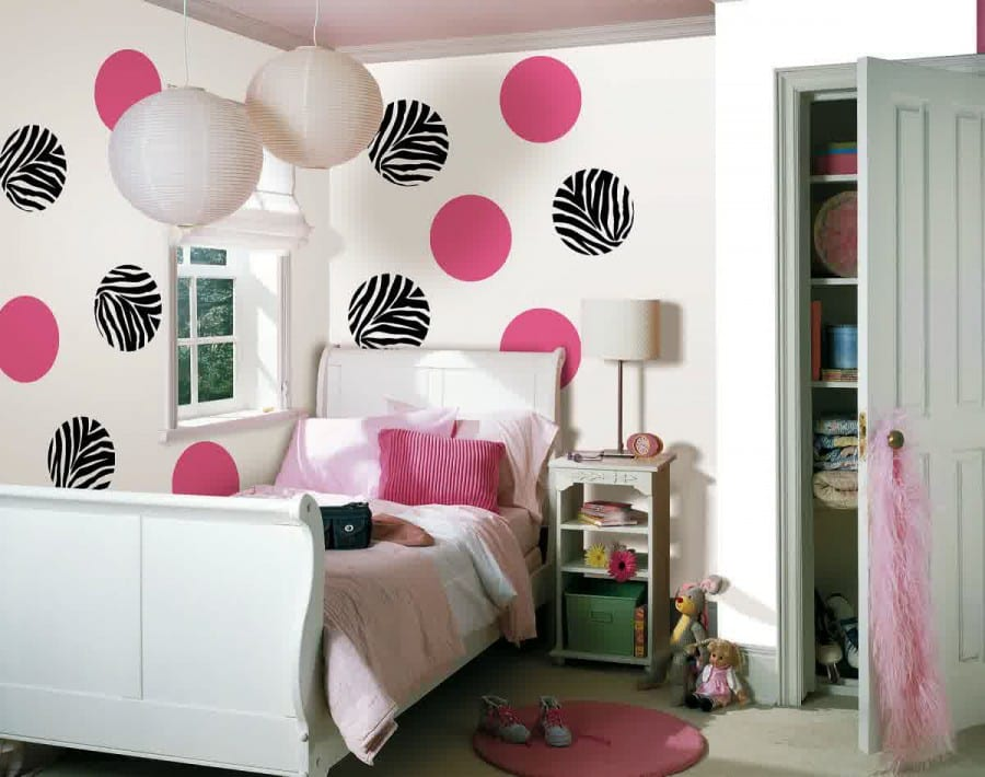 Gut Coole Deko Idee Mit Punktmotiv Fürs Mädchen Schlafzimmer