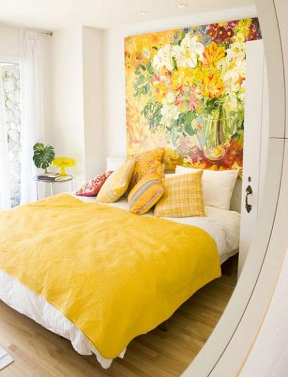 coole deko ideen schlafzimmer mit bildern und frische farbgestaltung ...