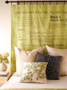 coole deko ideen schlafzimmer und farbgestaltung in grün
