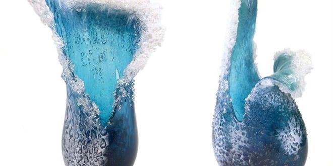 coole dekorationsidee mit wasser und meer thematik_faszinierende kunstwerke aus glas