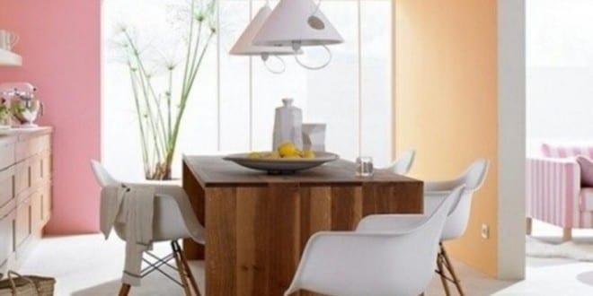 Farbgestaltung K Che coole farbgestaltung küche für optische raumvergrößerung mit wandfarben aprikose und rosa