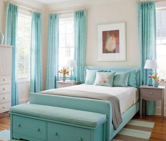 Top coole farbgestaltung und deko ideen schlafzimmer in hellblau GP14