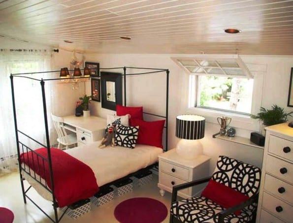 Coole Farbgestaltung Und Deko Schlafzimmer In Rot Und Schwarz