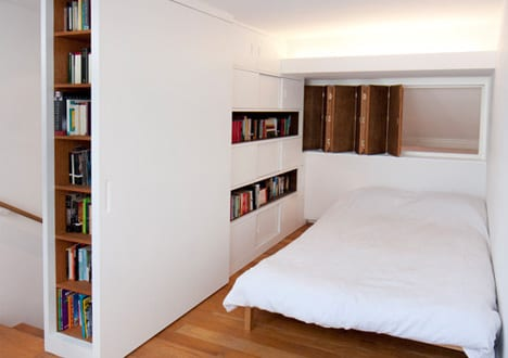 Ein kleines Loft-Schlafzimmer – kreative Einrichtungsidee für Mezzanine