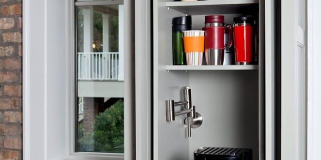 coole idee zum platzsparen und kaffeemaschine verstecken