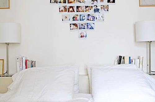 coole wanddeko schlafzimmer mit herzmotiv aus fotos