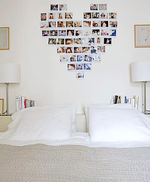 coole wanddeko schlafzimmer mit herzmotiv aus fotos - fresHouse