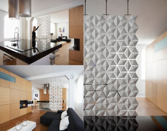 dekorative trennwand aus 3d elementen als moderner raumteiler von bloomming freshouse. Black Bedroom Furniture Sets. Home Design Ideas
