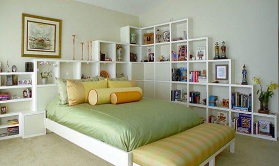 Einfache Deko Ideen Schlafzimmer Mit Wandregalen
