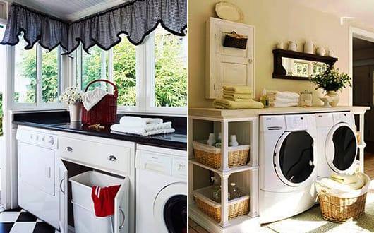 Einrichtungsidee-Für-Kleine-Waschküche-Mit-Waschmaschine-Und