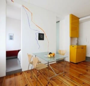 exhtrem kleine Küche als raumsparendes möbel_das Projekt Smartlofts von Workspheres Architects