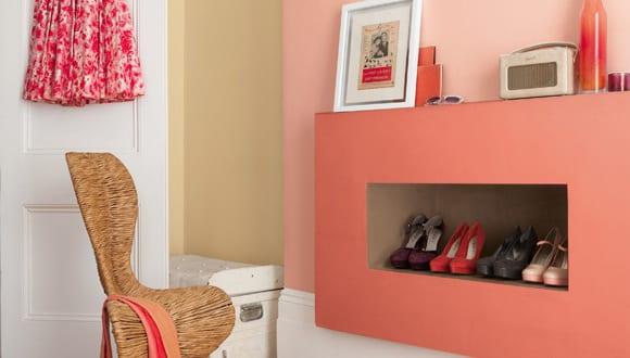 Farbgestaltung f r optische raumvergr erung mit wandfarbe rosa und ochergelb freshouse - Rosa wandfarbe ...
