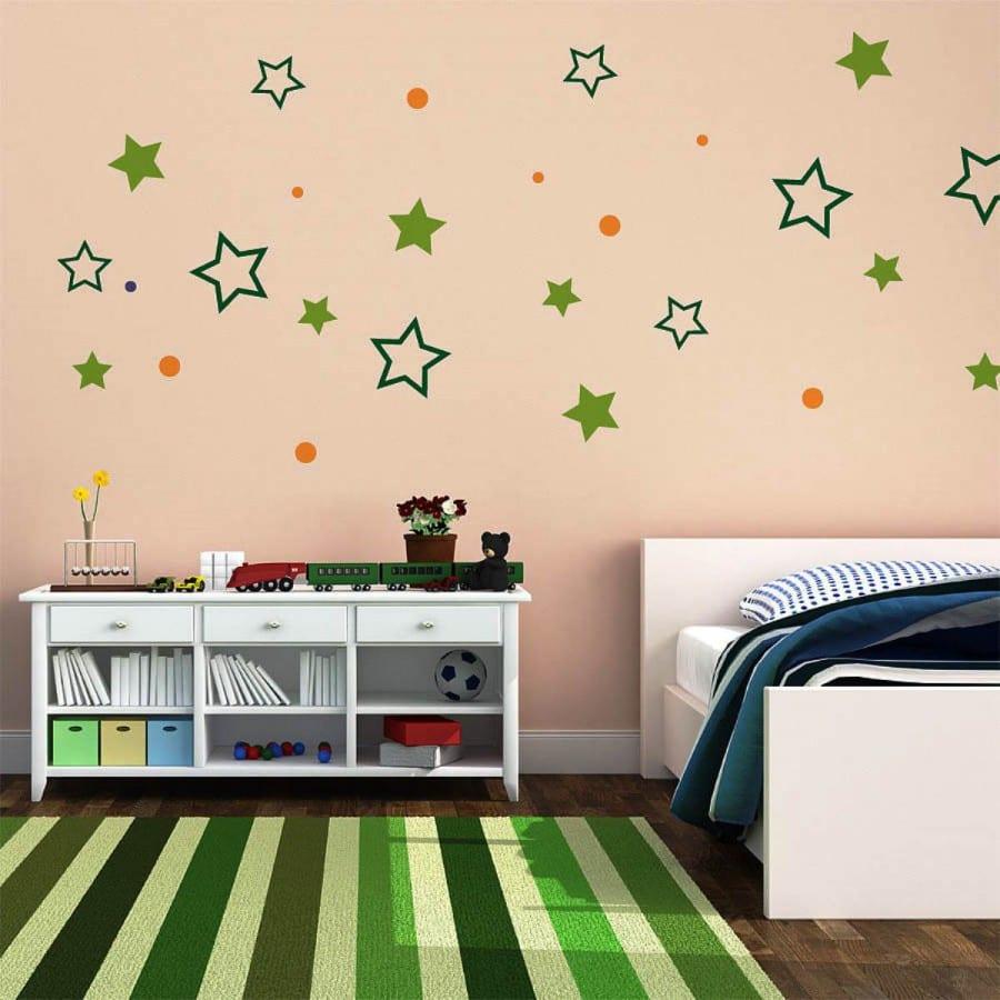 frische deko ideen schlafzimmer und kinderzimmer mit wandtattoo ...
