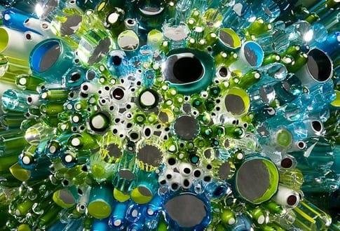 Meeresumwelt-Skulpturen aus geblasenem Glas