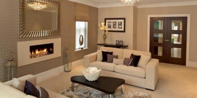 hellbraune wandfarbe f r optische raumvergr erung. Black Bedroom Furniture Sets. Home Design Ideas