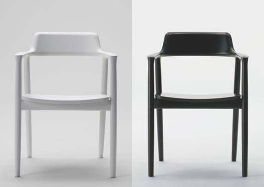 Holz Esstuhl Modell In Schwarz Und Weiß Für