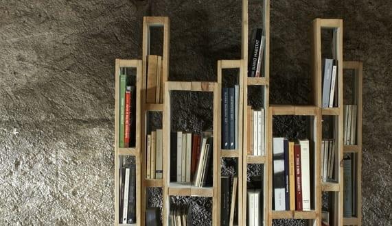 inspiration für moderne Bücherregale aus Paletten selber zu bauen