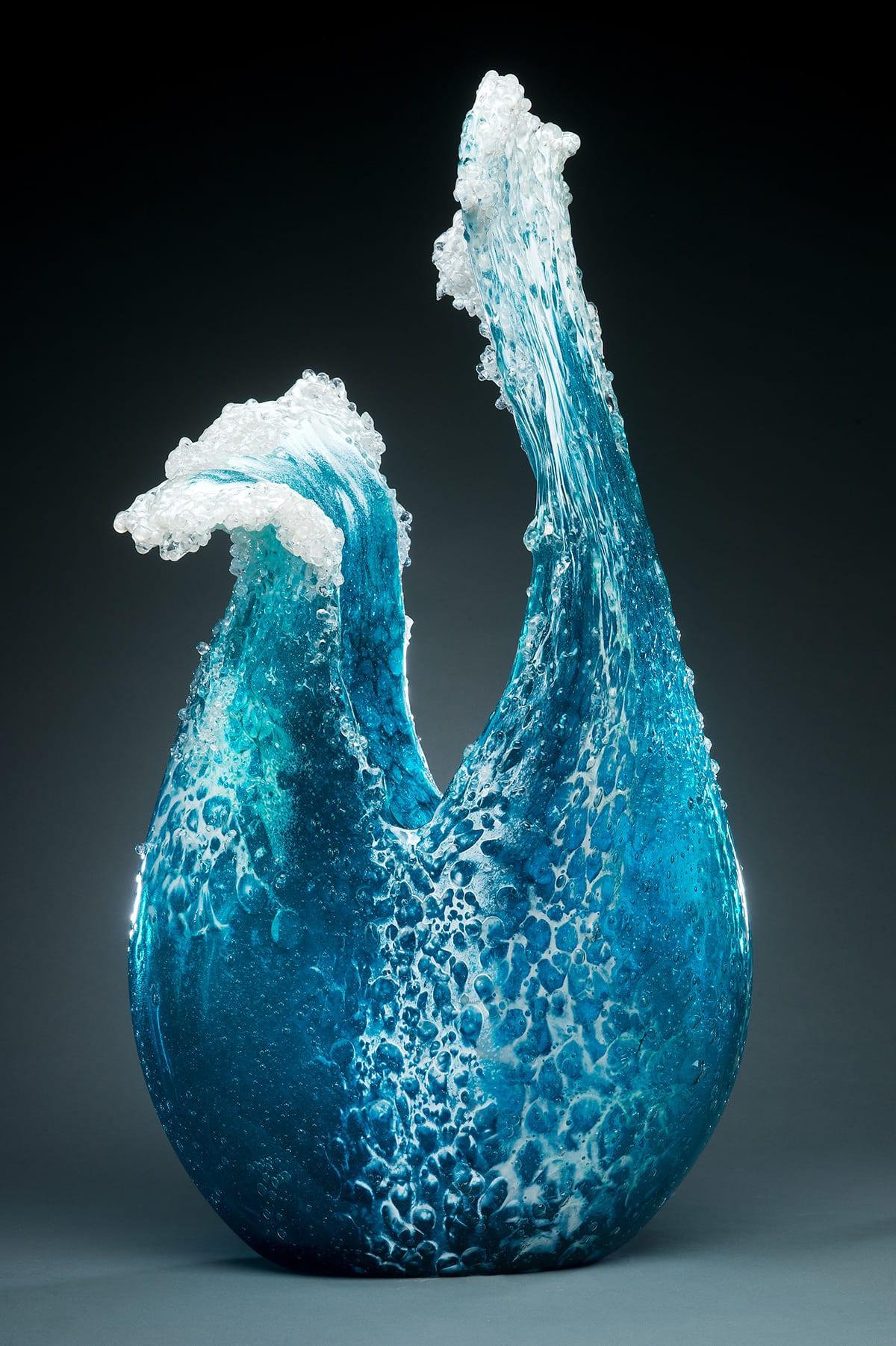 Kunstwerk Aus Gefrorenem Wasser