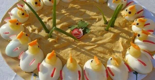 interessante Vorspeisen aus Eiern für Partys und Kindergeburtstage