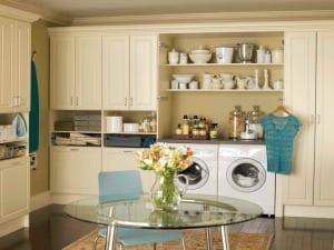 interessante waschküche-einrichtungsidee als teil der küche
