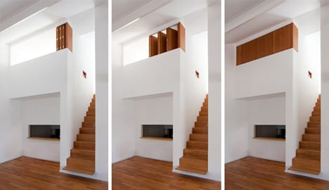 kleine schlafzimmer idee f r moderne einrichtung von mezzanin wohnungen freshouse. Black Bedroom Furniture Sets. Home Design Ideas