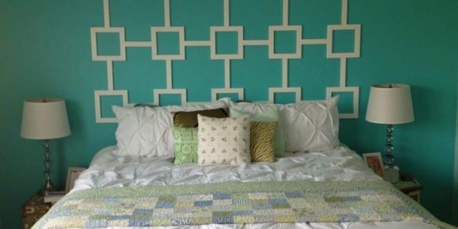 kleine schlafzimmer deko ideen und farbgestaltung in weiß und blau