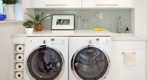 kleine waschküche kreativ einrichten
