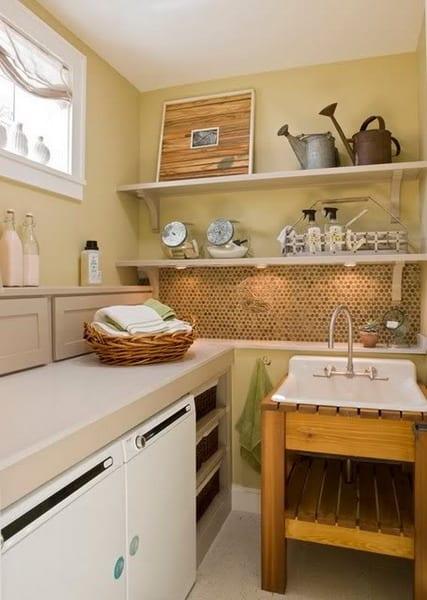 kleine waschk che kreativ einrichten und gestalten freshouse. Black Bedroom Furniture Sets. Home Design Ideas
