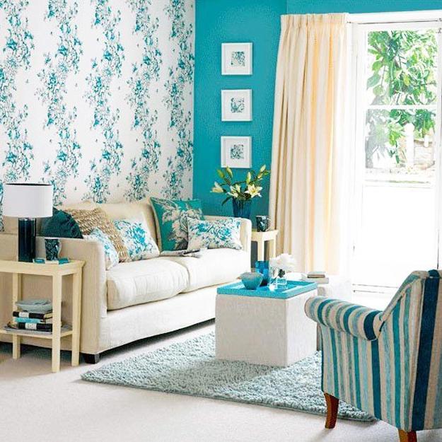 kleine wohnzimmer optisch vergr246223ern mit wandfarbe blau