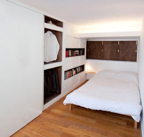 kleines schlafzimmer idee f r moderne einrichtung mit. Black Bedroom Furniture Sets. Home Design Ideas