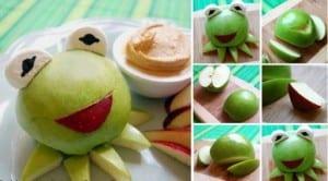 kreative Party-essen-ideen für Kindergeburstage und Frücht-Deko idee mit Äpfeln