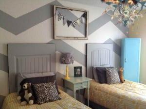 kreative deko ideen schlafzimmer und farbgestaltung in weiß und grau
