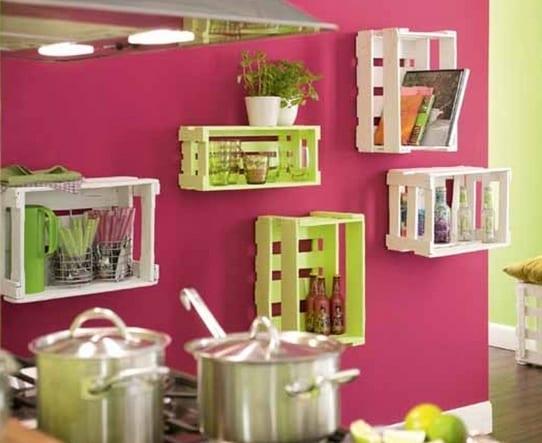 Kreative Ideen Diy : Kreative idee für die küche mit diy wandregalen in grün und weiß