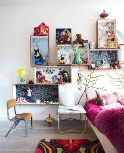 kreative kinderzimmer gestaltung und deko idee schlafzimmer mit DIY Wanddeko
