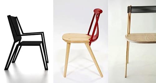 Markantes Design moderner Holz-Esszimmerstühle