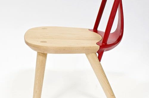 moderne esszimmerstühle aus holz mit rückenlehne rot