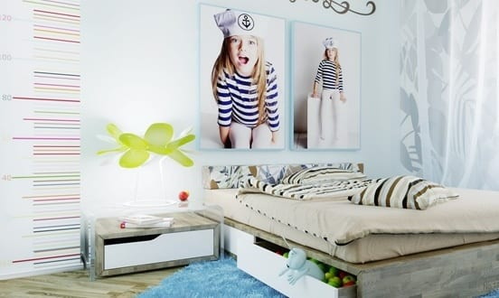 Moderne Kinderzimmer Gestalten Und Einrichten_coole Deko Ideen Schlafzimmer  Mädchen