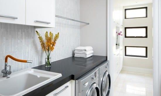 moderne kleine waschküche einrichtung