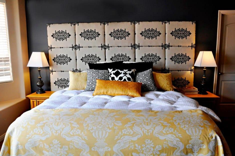 Moderne Schlafzimmer Farbgestaltung Und Deko Ideen In Gelb Und Schwarz