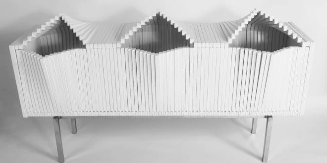 moderne schrankmöbel aus holz_weißes sideboard Wave