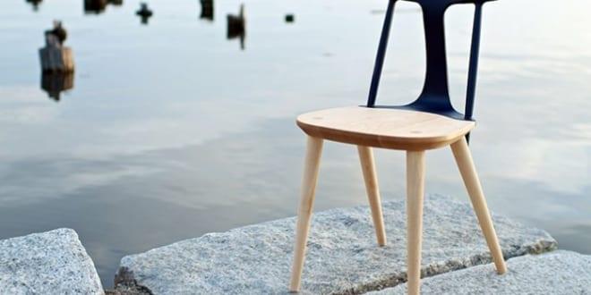 moderner Holzstuhl für moderne Esszimmereinrichtung mit Esstischstühlen schwarz von studio dunn