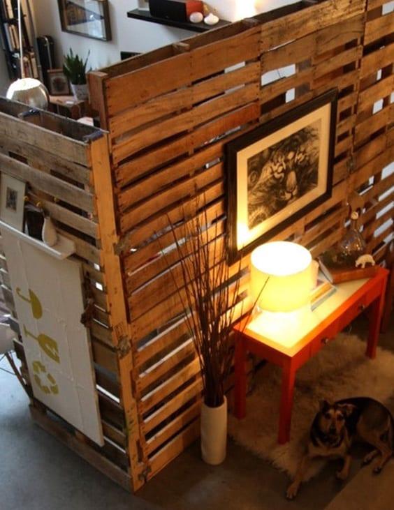 paletten raumteiler f r raumtrennung freshouse. Black Bedroom Furniture Sets. Home Design Ideas