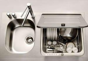 platzsparende Ideen für kleine küchen mit eingebauter Spülmaschine von briva