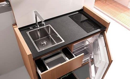 Miniküche ideen  platzsparende Küche Idee mit k1-mini-küche von kitchoo - fresHouse